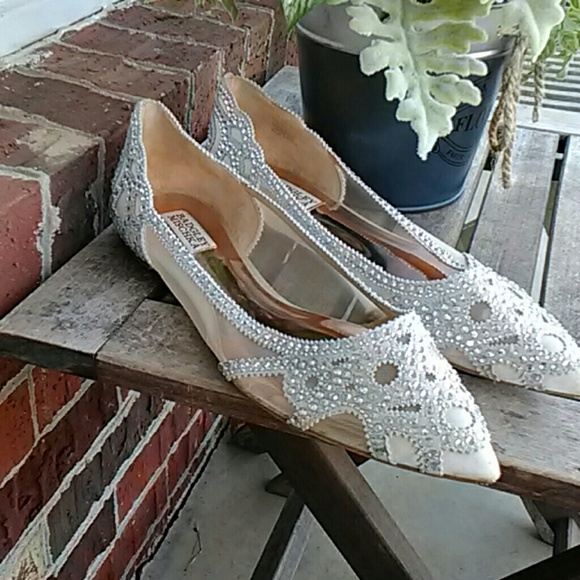 46c8599756a2 Badgley Mischka Shoes | Gigi Pointed Toe Evening Flat | Poshmark
